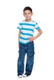 Portrait of a fashion little boy Stock Photos