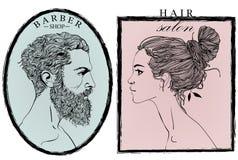 Portrait of Fashion men and woman. Stock Photos