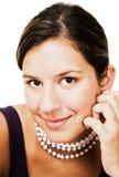 Portrait of fashion model smiling Stock Photo
