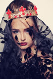 Portrait of Fashion Model Royalty Free Stock Images