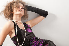 Portrait of fashion woman Royalty Free Stock Photos