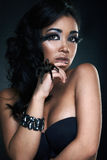 Portrait of fashion woman model Stock Photo