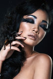 Portrait of fashion woman model Stock Images