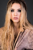 Portrait of fashion woman Stock Images