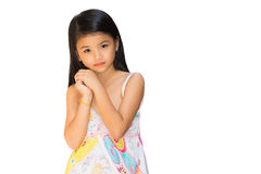 A portrait of a fashion young girl Royalty Free Stock Photo