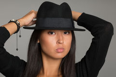 Portrait of an fashionable asian girl Stock Images