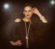 Portrait of a fashionable beautiful woman Royalty Free Stock Photography