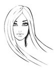 Portrait of fashionable girl Royalty Free Stock Image