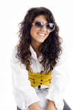 Portrait of fashionable girl wearing sunglasses Royalty Free Stock Image
