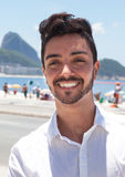 Portrait of a fashionable guy at Rio de Janeiro Royalty Free Stock Photography