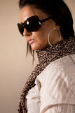 Portrait of fashionable women Stock Photos