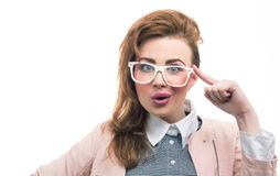 Portrait of a fashionable young girl Royalty Free Stock Photo