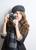 Cute young artist. Stock Photos