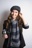 Cute young photographer. Royalty Free Stock Photo