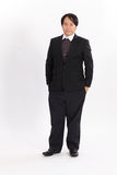 portrait of fat businessman in black suit Royalty Free Stock Photo