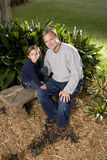 Portrait of father with five your old son Royalty Free Stock Image