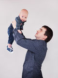 Portrait of father with his baby boy Stock Image