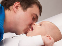 Portrait of father with his baby boy Royalty Free Stock Photo