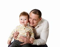 Portrait of a father with his little son Royalty Free Stock Photo