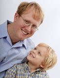 Portrait of a father and his young son Stock Images