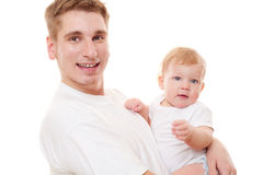 Portrait of father and son Royalty Free Stock Image