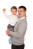 Portrait of a father and son Stock Photos
