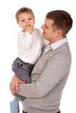Portrait of a father and son Royalty Free Stock Images
