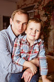 Portrait father and son Stock Photography