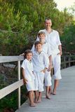 Portrait of father and three sons Stock Images