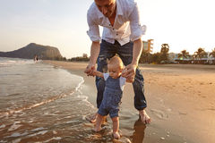 Portrait father with toddler son Royalty Free Stock Photo