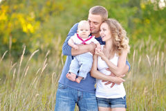 Portrait of a father and two sons Royalty Free Stock Photography