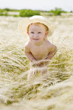 Portrait in feather-grass Royalty Free Stock Photo
