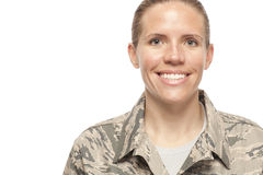 Portrait of female airman Royalty Free Stock Photo