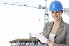 Portrait of female architect Royalty Free Stock Photos