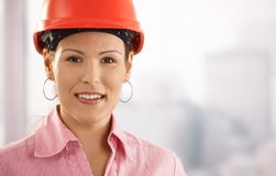 Portrait of female architect Royalty Free Stock Photo