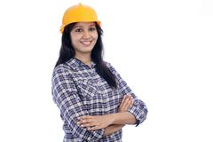 Portrait of female architect Stock Image