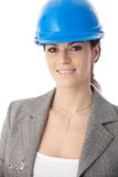 Portrait of female architect in hardhat Royalty Free Stock Photography