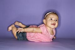 Portrait of female baby. Royalty Free Stock Photos