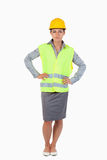 Portrait of a female builder Royalty Free Stock Photos