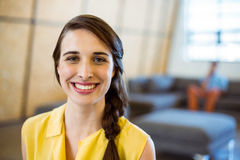 Portrait of female business executive smiling Royalty Free Stock Photos