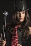 Portrait of female cabaret performer Royalty Free Stock Photos