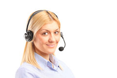 Portrait of a female call service operator Stock Image