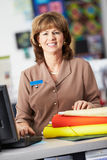Portrait Of Female Cashier At Clothing Store Royalty Free Stock Images