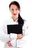Portrait of female chef Stock Photo
