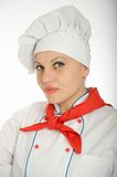 Portrait of a female chef Royalty Free Stock Photos