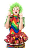 Portrait of female clown Royalty Free Stock Photos