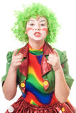 Portrait of female clown Royalty Free Stock Image
