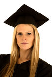 Portrait of a female college graduate in cap and g Stock Images