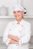 Portrait of a female cook Royalty Free Stock Image