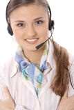 Portrait of female customer service representative Royalty Free Stock Image